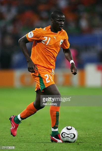 Emmanuel Eboue of Ivory Coast in action during the FIFA World Cup Germany 2006 Group C match between Argentina and Ivory Coast played at the Stadium...