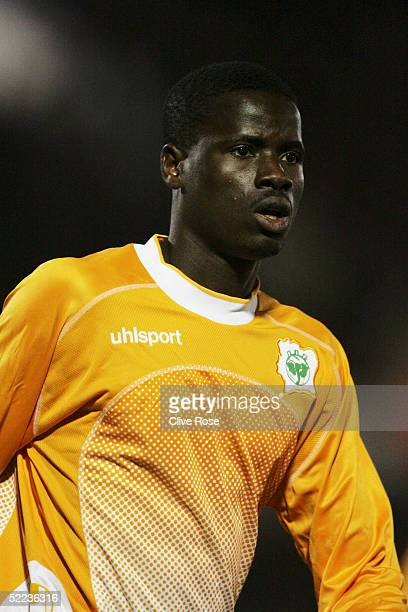 Emmanuel Eboue of Ivory Coast in action during the International friendly match between the Ivory Coast and Congo at Stade Diochon on February 8 2005...