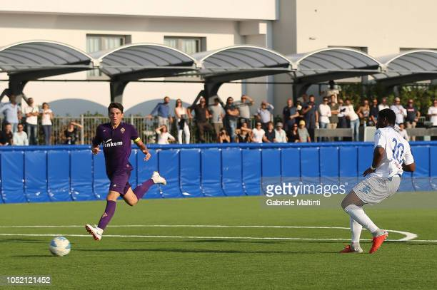 Emmanuel Ekong of Empoli FC scores a goal during tje match Empoli FC U17 between ACF Fiorentina U17 on October 14 2018 in Empoli Italy