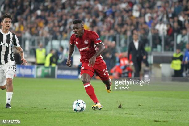 Emmanuel Emenike during the UEFA Champions League football match between Juventus FC and Olympiakos FC at Allianz Stadium on 27 September 2017 in...