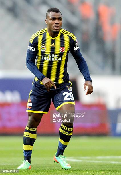 Emmanuel Eminike of Fenerbahce SK in action during the Turkish Super League match between Besiktas and Fenerbahce at the Ataturk Olympic Stadium on...