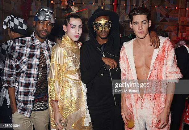 Emmanuel Ezugwu Kyle De'volle Vas J Morgan and guest attend 'Death Of A Geisha' hosted by Fran Cutler and Cafe KaiZen with Grey Goose on October 31...