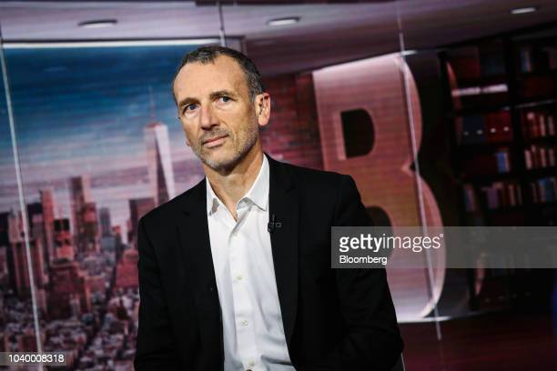 Emmanuel Faber chief executive officer of Danone SA speaks during a Bloomberg Television interview in New York US on Tuesday Sept 25 2018 Faber...
