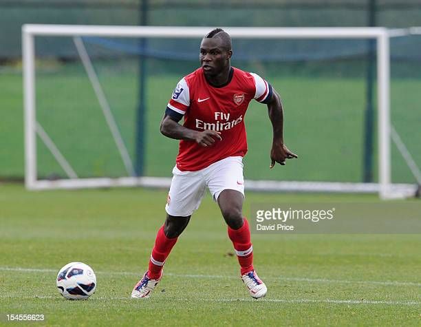 Emmanuel Frimpong of Arsenal during the Barclays Premier U21 match Everton v Arsenal at Everton's training ground on October 22, 2012 in Liverpool,...