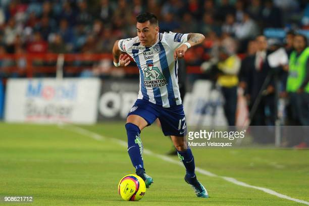 Emmanuel Garcia of Pachuca during the 3rd round match between Pachuca and Lobos BUAP as part of the Torneo Clausura 2018 Liga MX at Hidalgo Stadium...