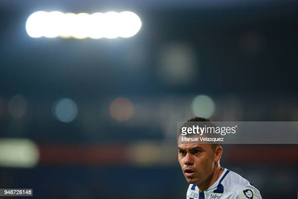 Emmanuel Garcia of Pachuca looks on during the 15th round match between Pachuca and Santos Laguna as part of the Torneo Clausura 2018 Liga MX at...