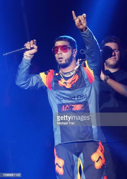 Emmanuel Gazmey Santiago aka Anuel AA performs onstage during CALIBASH 2019 Night 1 held at Staples Center on January 19 2019 in Los Angeles...
