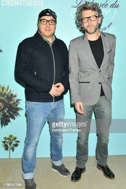 Emmanuel Hamon and Frederic Gorny attend Centenaire Des Studios De La Victorine at Cinematheque Francaise on March 25, 2019 in Paris, France.