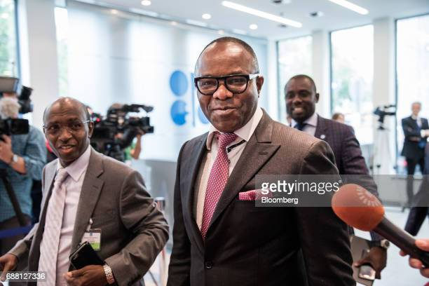 Emmanuel Ibe Kachikwu Nigeria's petroleum and resources minister arrives for the 172nd Organization of Petroleum Exporting Countries meeting in...