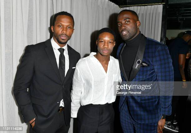Emmanuel Kabongo Lamar Johnson and Shamier Anderson attend The Annual Black Ball powered by Cîroc Black Raspberry and Don Julio on February 20 2019...