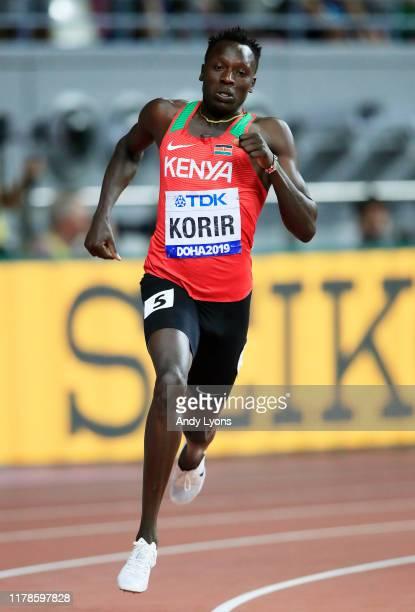 Emmanuel Kipkurui Korir of Kenya competes in the Men's 400 metres semi finals during day six of 17th IAAF World Athletics Championships Doha 2019 at...