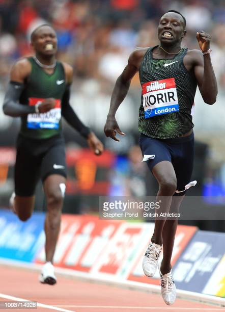 Emmanuel Kipkurui Korir of Kenya competes on his way to victory in the Men's 800m during Day Two of the Muller Anniversary Games at London Stadium on...