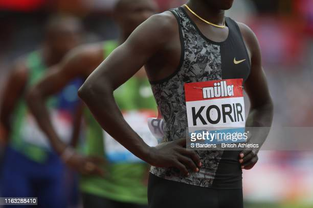 Emmanuel Kipkurui Korir of Kenya prepares to compete in the Men's 800m during Day One of the Muller Anniversary Games IAAF Diamond League event at...