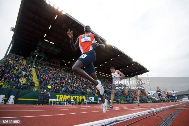 Emmanuel Korir of the University of Texas El Paso races to a first place finish in the 800 meter run during the Division I Men's Outdoor Track &...