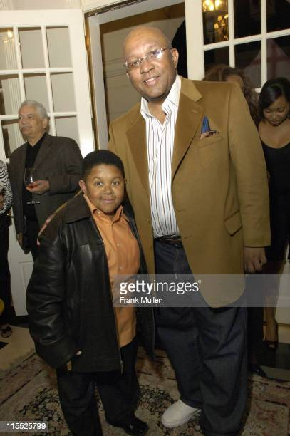 Emmanuel Lewis and Charles Mathis during SunTrust Honors Its 2007 GRAMMY Nominees February 25 2007 at Charles Mathis Residence in Atlanta Georgia...