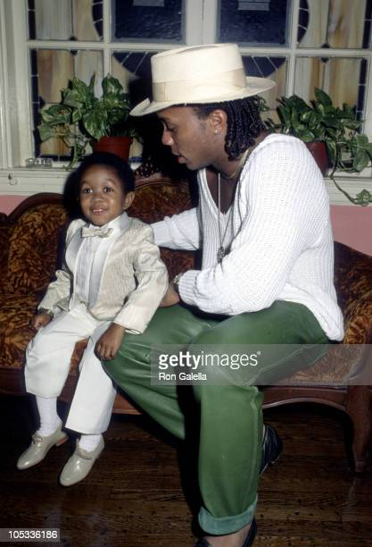 Emmanuel Lewis and Gene Anthony Ray during The Tap Dance Kid Opening night September 20 1985 at Pantages Theater in Hollywood California United States