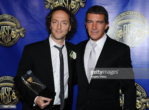 Emmanuel Lubezki and Antonio Banderas arrive at American Society of Cinematographers' 26th Annual Outstanding Achievement Awards at Hollywood and...