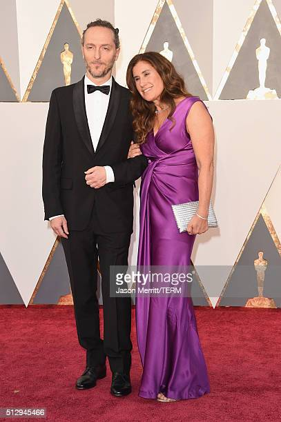 Emmanuel Lubezki and wife attend the 88th Annual Academy Awards at Hollywood & Highland Center on February 28, 2016 in Hollywood, California.