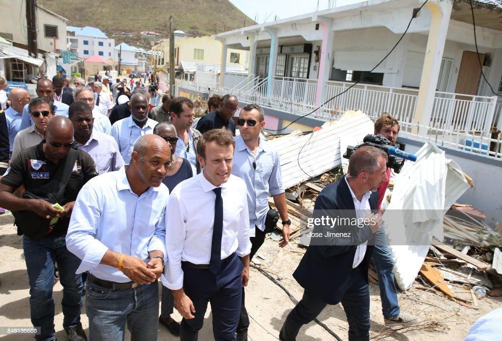 Emmanuel Macron President Of France Witn Saint Martin President News Photo Getty Images