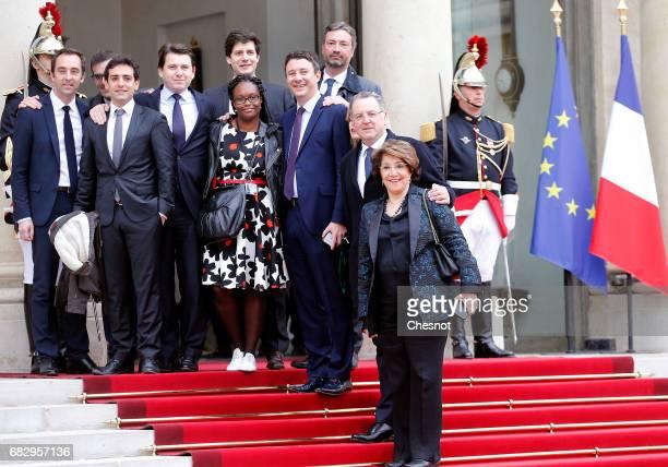 Emmanuel Macron's team and Head of the public relations of the party's 'La Republique en marche' Sibeth Ndiaye 'La Republique en marche' spokesman...