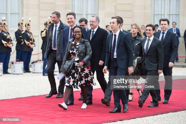 Emmanuel Macron's team, Sibeth Ndiaye , head of the public relations of the party's La Republique en marche , La republique en marche spokesman...