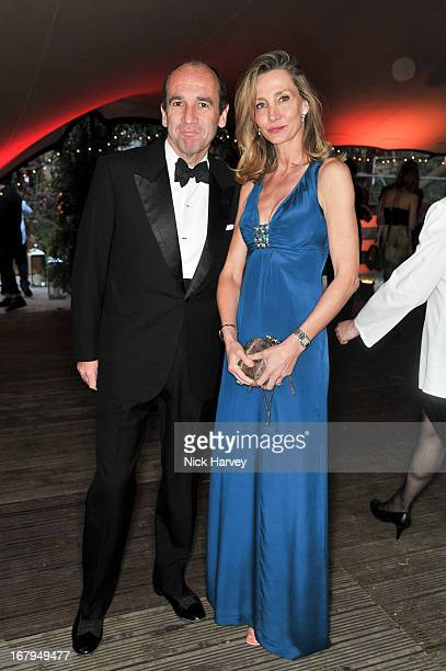 Emmanuel Moatti and Marie Moatti attends annual fundraiser in aid of Gabrielle's Angel Foundation for Cancer Research at Battersea Power station on...