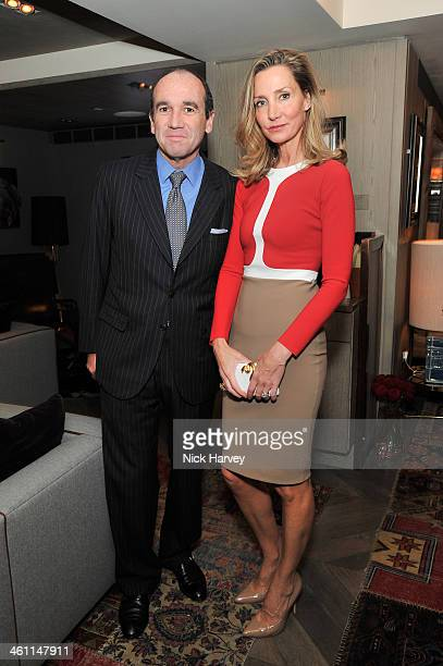 Emmanuel Moatti and Marie Moatti attends the Launch Of Saqqara Jewels Hosted By Lady Dalit Nuttall at the Belgraves Hotel on 27th November 2013 in...
