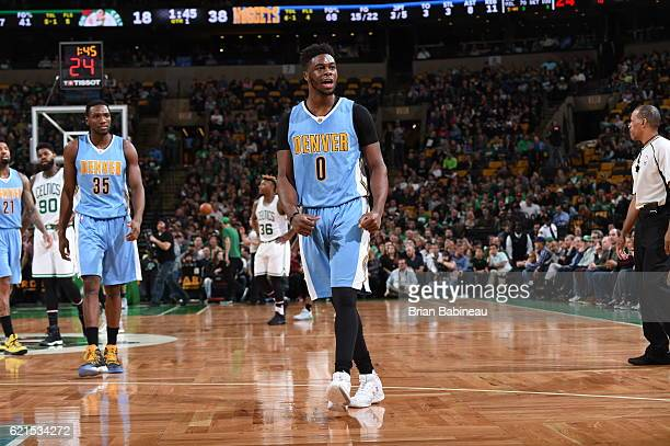 Emmanuel Mudiay of the Denver Nuggets is seen against the Boston Celtics on November 6 2016 at the TD Garden in Boston Massachusetts NOTE TO USER...