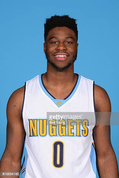 Emmanuel Mudiay of the Denver Nuggets poses for a head shot during the 20162017 Media Day on September 26 2016 at the Pepsi Center in Denver Colorado...