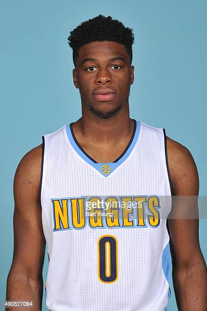 Emmanuel Mudiay of the Denver Nuggets poses for a head shot on September 28 2015 at the Pepsi Center in Denver Colorado NOTE TO USER User expressly...