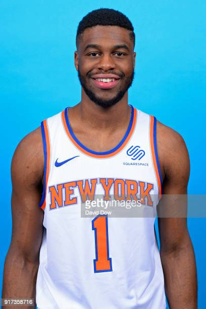 Emmanuel Mudiay of the New York Knicks poses for a head shot at the Madison Square Garden Training Center on February 10 2018 in Tarrytown New York...