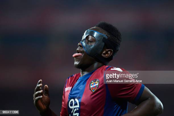 Emmanuel Okyere Boateng of Levante UD during the La Liga match between Athletic Club and Levante at Estadio San Mames on April 23 2018 in Bilbao