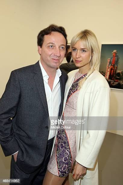 Emmanuel Perrotin and AnneSophie Mignaux attend Art Exhibition at Galerie Perrotin as part of the Paris Fashion Week Womenswear Fall/Winter 2015/2016...