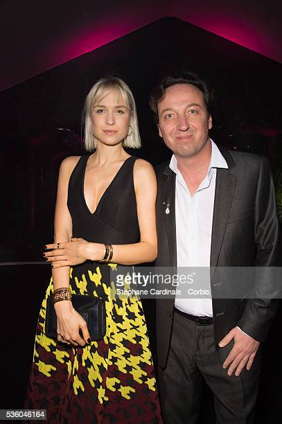 Emmanuel Perrotin and AnneSophie Mignaux attend the Sidaction Gala Dinner 2015 at Pavillon d'Armenonville on January 29 2015 in Paris France