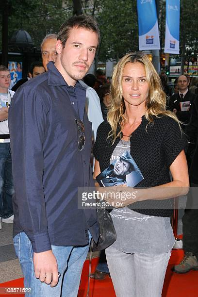 Emmanuel Petit and Agathe de la Fontaine in Paris France on September 11 2007