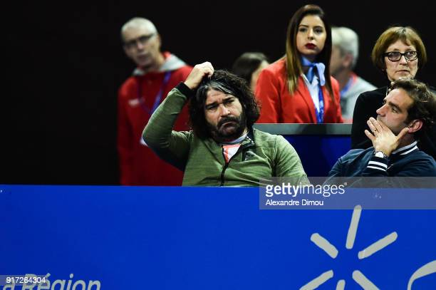 Emmanuel Planque head coach of Lucas Pouille during the Final Open Sud of France ATP Montpellier on February 11 2018 in Montpellier France