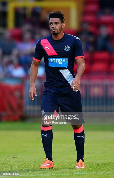Emmanuel Riviere of Newcastle in action during the pre season friendly match between Gateshead and Newcastle United at Gateshead International...
