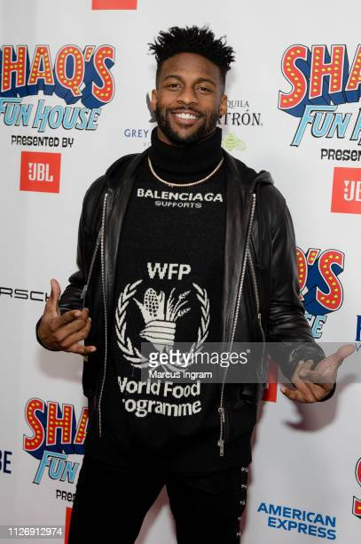 Emmanuel Sanders attends Shaq Fun House at Live At The Battery on February 01 2019 in Atlanta Georgia