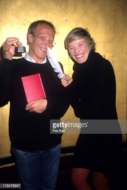 Emmanuel Verdet and Estelle Martin during Emmanuel Verdet Receives The 2006 Plume et Plomb Style Award For His Book ''Ferdiere Psychiatre d'Antonin...