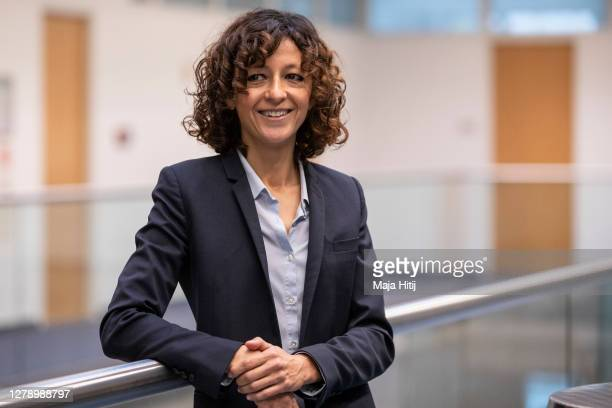 Emmanuele Charpentier, Scientific and Managing Director of the Max Planck Unit for the Science of Pathogens in Berlin, poses for a photo prior to a...