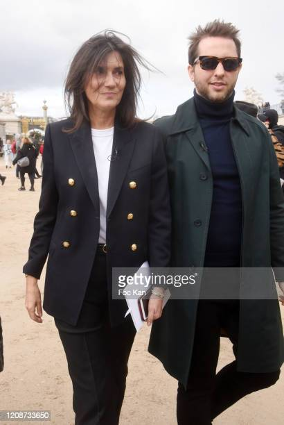 Emmanuelle Alt and a guest attend the Dior show as part of the Paris Fashion Week Womenswear Fall/Winter 2020/2021 on February 25 2020 in Paris France