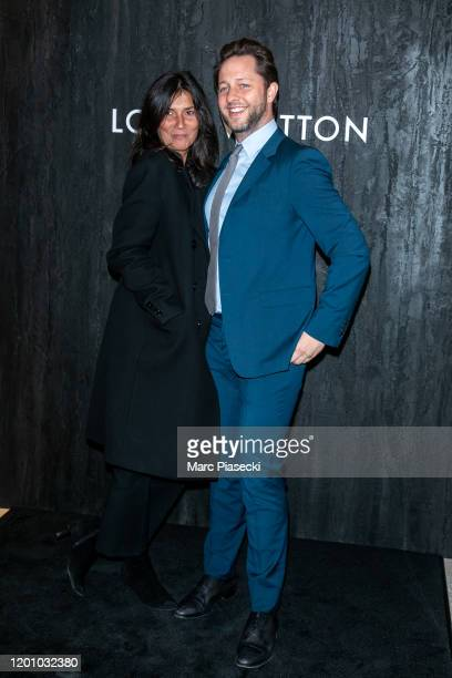 Emmanuelle Alt and Derek Blasberg attend the Louis Vuitton's Jewelry Launch as part of Paris Fashion Week on January 21 2020 in Paris France