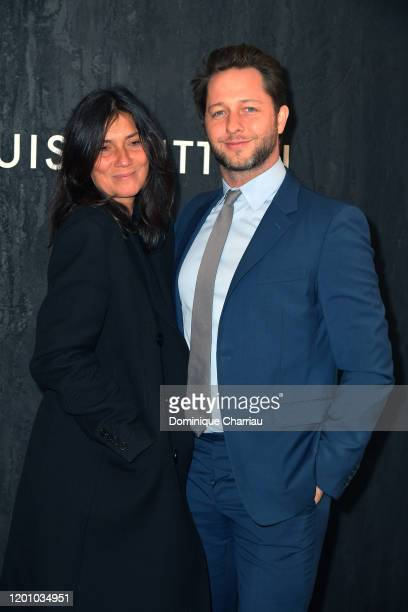 Emmanuelle Alt and Derek Blasberg attends the Louis Vuitton's Jewelry Launch as part of Paris Fashion Week on January 21 2020 in Paris France