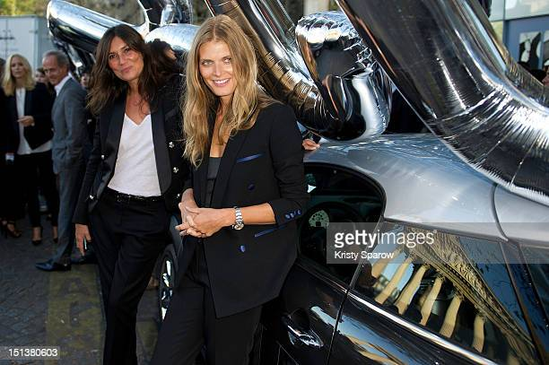 Emmanuelle Alt and Malgosia Bela attend Vogue Fashion Night Out 2012 on September 6 2012 in Paris France