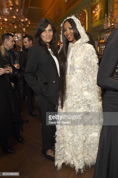 Emmanuelle Alt and Naomi Campbell attend as Tiffany Co partners with British Vogue Edward Enninful Steve McQueen Kate Moss and Naomi Campbell to...