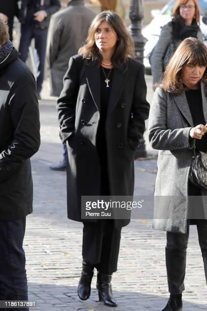 Emmanuelle Alt attends Marie Laforet's funeral at Eglise Saint Eustache on November 07, 2019 in Paris, France.