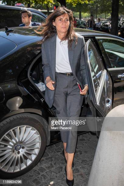 Emmanuelle Alt attends the Alexandre Vauthier Haute Couture Fall/Winter 2019 2020 show as part of Paris Fashion Week on July 02 2019 in Paris France