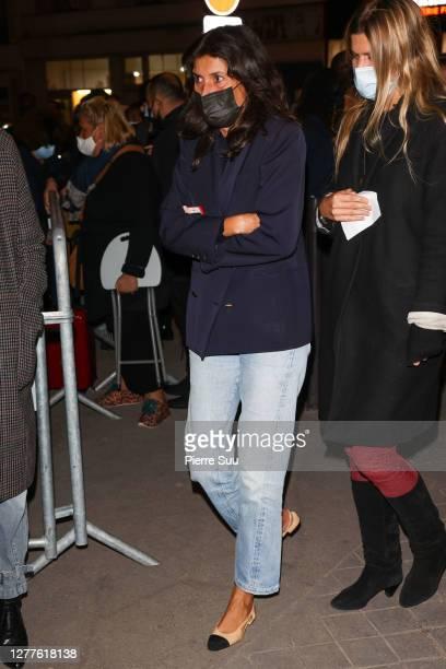 Emmanuelle Alt attends the Balmain Womenswear Spring/Summer 2021show as part of Paris Fashion Week on September 30, 2020 in Paris, France.
