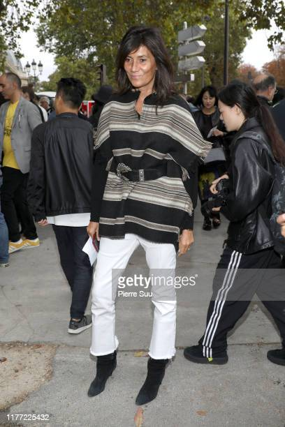 Emmanuelle Alt attends the Chloe Womenswear Spring/Summer 2020 show as part of Paris Fashion Week on September 26 2019 in Paris France