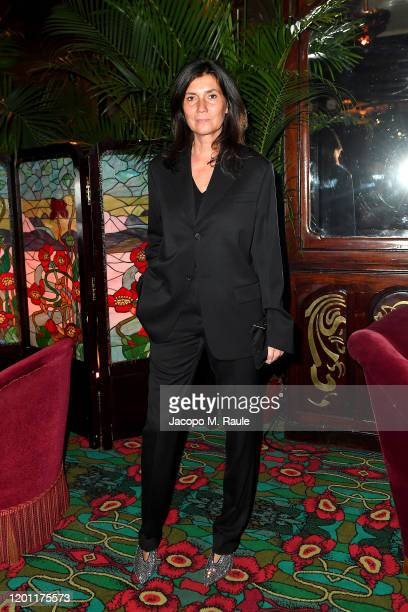Emmanuelle Alt attends the dinner cohosted by Prada and Vogue Paris on January 19 2020 in Paris France
